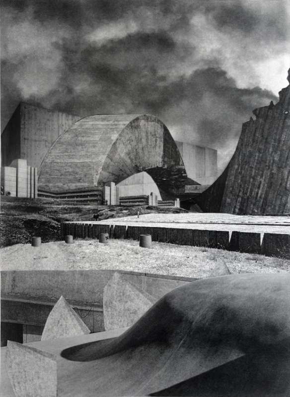 Asbjørn Skou_Death drive architecture_Collage_51,5X41 cm_2014